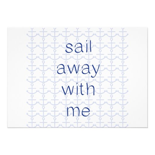 Sail Away With Me Personalized Invite