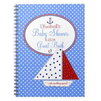 Sail Boat Baby Shower Guest Book |