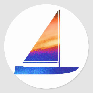 Sail  boat - Blue n Red Stickers