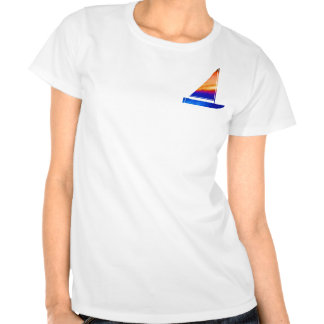 Sail  boat - Blue n Red T Shirt