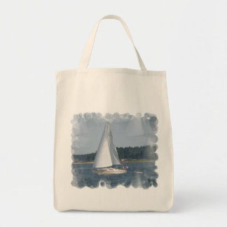 Sail Boat Bubbles Grocery Tote Grocery Tote Bag