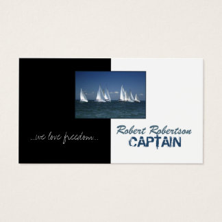 Sail Boat Captain Ship Nautical Card