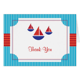 Sail Boat Card Thank You Card or Note Card