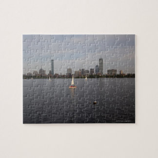 Sail Boat, Charles River, Boston, MA Jigsaw Puzzle