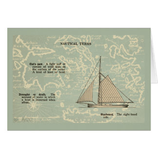 Sail Boat Nautical Terms Card