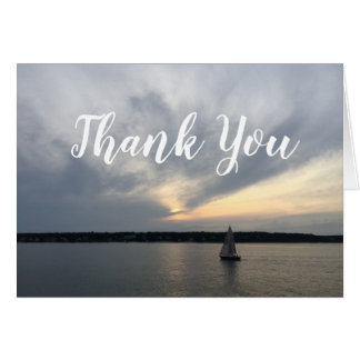 Sail Boat Nautical Thank You Notes