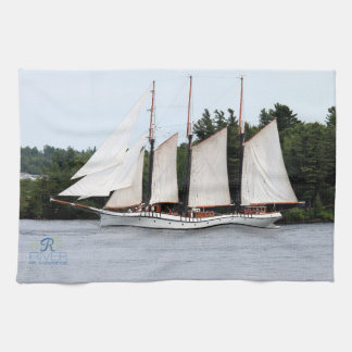 Sail Boat On The St. Lawrence kitchen towels