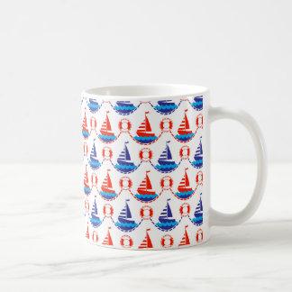 Sail Boat Pattern Coffee Mug
