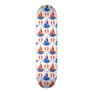 Sail Boat Pattern Skate Deck