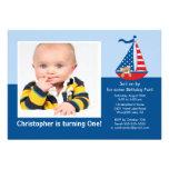 Sail Boat Photo Birthday Invitation