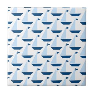 Sail Boat Print Tile