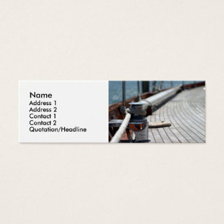 sail boat rope mini business card