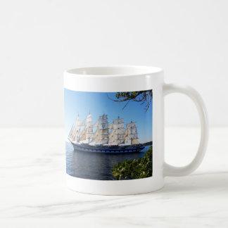 Sail boat schooner sailboat coffee mug