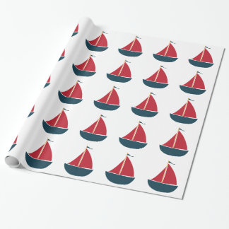Sail Boat Wrapping Paper