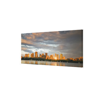 Sail boating on The Charles River at sunset Canvas Print