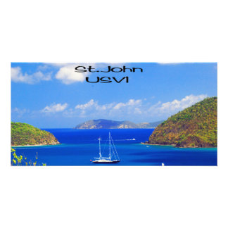 Sail Boats at Saint John Personalized Photo Card