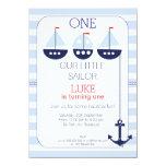 Sail Boats Nautical 1st Birthday Invitation