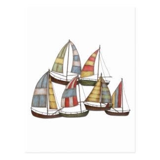 Sail Boats Postcard