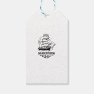 sail close to the wind safety gift tags