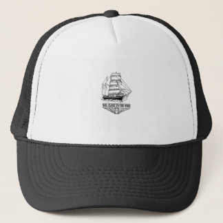 sail close to the wind safety trucker hat