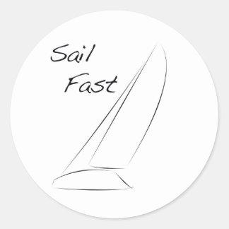 Sail Fast Classic Round Sticker