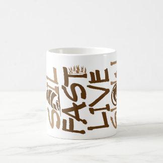 Sail Fast Live Slow horizonal brown Coffee Mug