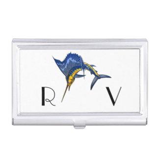 SAIL FISH MONOGRAM BUSINESS CARD HOLDER