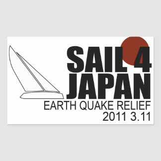 Sail for Japan Rectangle Sticker
