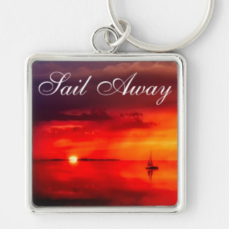 Sail into the Sunset Keychain