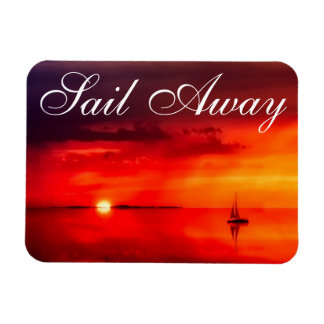 Sail into the Sunset Magnet
