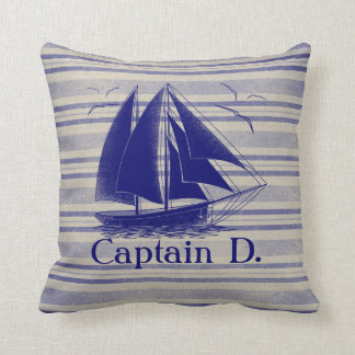 Sail like a pirate, boy's room nautical throw pillow