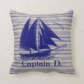 Sail like a pirate boy's room nautical throw pillow