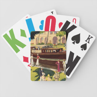 Sail Motor Boat Vintage Antique Nautical Bicycle Playing Cards