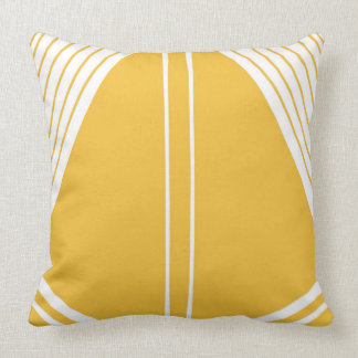 'Sail' Mustard Yellow Abstract Design Throw Pillow