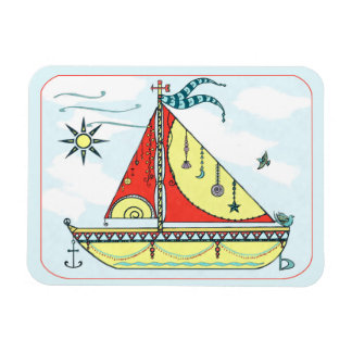 Sail my Dream Boat Watercolor Magnet