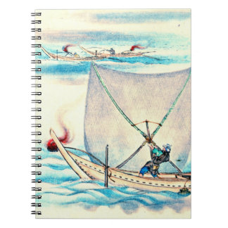 Sail Net Fishing 1878 Spiral Note Books