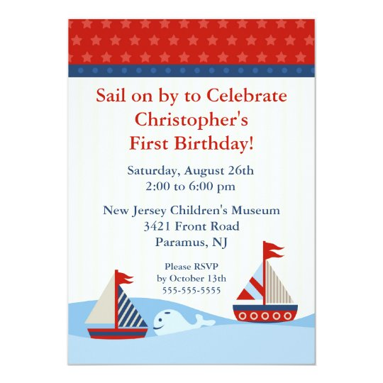 Sail on by & Celebrate Birthday Invitation