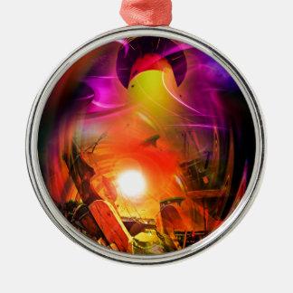 Sail romance - time tunnel metal ornament