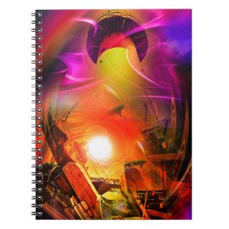 Sail romance - time tunnel spiral notebook