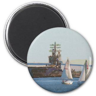 Sail San Diego 2 Inch Round Magnet
