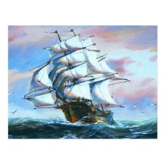 Sail Ship Painting Postcard