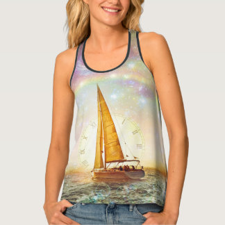 Sail The Sea Of Time Women's All-Over Print Tank T Tank Top