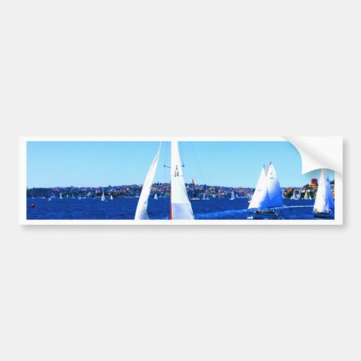 Sail to goal and success  yacht sydney bumper stickers