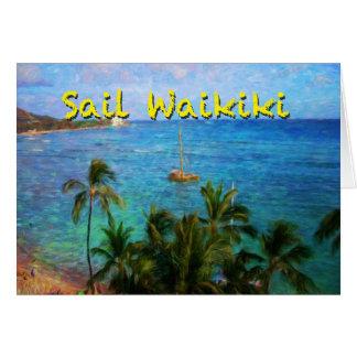 Sail Waikiki Greeting Card