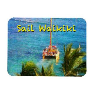 Sail Waikiki Rectangular Photo Magnet
