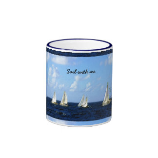 Sail with me ringer mug
