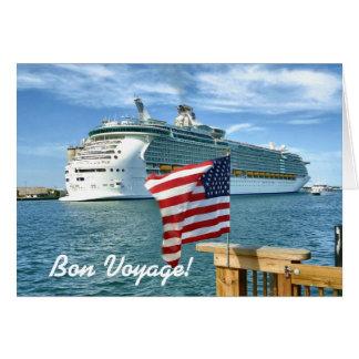 Sailaway with Flag Custom Bon Voyage Card