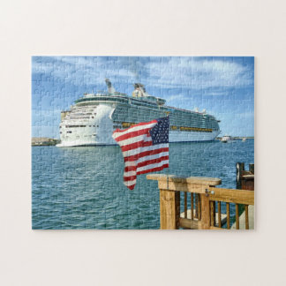 Sailaway with Flag Jigsaw Puzzle