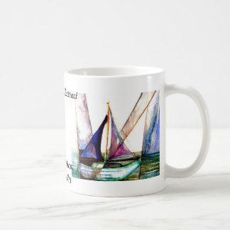 Sailboat Abstract - CricketDiane Ocean Art Basic White Mug