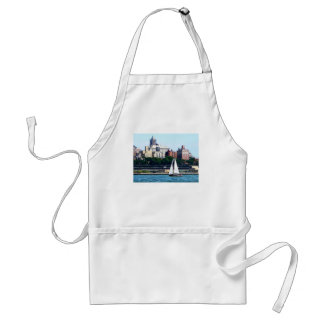 Sailboat Against Manhattan Skyline Standard Apron